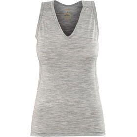 Devold Breeze V-Neck Singlet Women Grey Melange